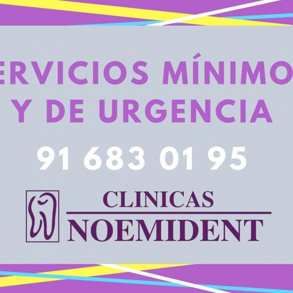 Servicios mínimos para guardias. Clínicas Noemi Dent